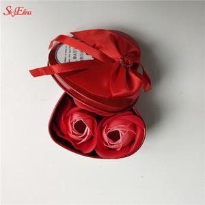 Rose Flower Soap Heart Scented Bath Body Petal Rose Flower Soap Decoración de boda Regalo Valentine's Day gift 5z