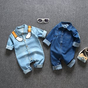 Newborn Baby Romper Spring Denim Jumpsuit Baby Girls Clothes For Baby Winter Warm Overalls Snowsuit For Boys Clothes 9 24 month T200706