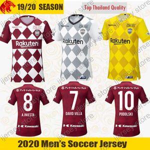 2020 Vissel Kobe Футболки для футбола Футболки для футбола DAVID VILLA A.INIESTA Комплект для дома Vissel Kobe FURUHASHI WELLINGTON JUNYA Jersey