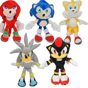 6styles Sonic Peluche Spielzeug Sonic Plüschspielzeug Soft Gefüllte Puppe-Baby-Geschenk für Kinder Weihnachten