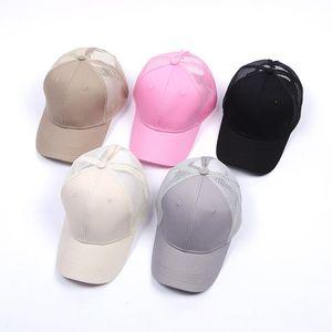 سهل الصلبة ذيل قبعة بيسبول فوضوي الكعك قبعة سائق الشاحنة المهر قبعات للجنسين قناع كاب أبي هات شبكة الصيف في الهواء الطلق SNAPBACKS