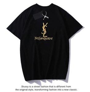 Tasarımcı T Shirt Lüks Üst Yeni Yaz Harf Baskı T Shirt Erkekler Kadın Tişörtlü Pamuk Üst Tees Kısa Kollu Casual tişört T-shirt
