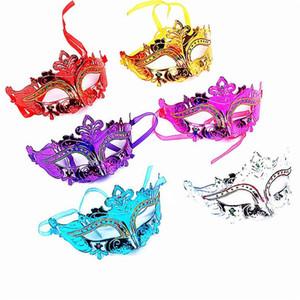 Hommes Femme Halloween masque mascarade masques Mardi Gras Vénitien Dance Party visage or brillant plaqué masque 6 couleurs T1I703