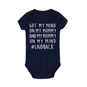 I Have the Mind on My Mom Print Baby Rompers Clothes Newborn Baby Boy Girl Jumpsuit Short-sleeved Toddler Romper Jumpsuit