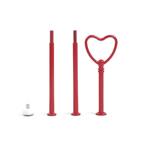 Hot Colors 3 Tier Fitting Accessory Handle100set Red Heart Plate Centre Set 3-tier Cake Stand Rod