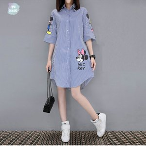 2019 Kadınlar Vestido Kısa Gevşek Baskı Elbise Femme Moda Leisure Yuvarlak Yaka Mini etek Mini Yaz Designer Giyim Elbise