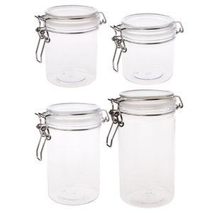 4 Superficie PETP libero rotondo bagagli Zuccheriera morsetto coperchio a tenuta d'aria Sealed Fagioli bloccaggio Candy conservazione vasi bottiglia