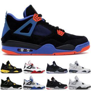 Лучшие баскетбольные кроссовки 4 4s Мужская черная кошка Motorsports Toro Bravo Cavs Alternate Fear Pack VI Мужчины Дизайнерские кроссовки US 7-13