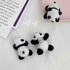 Broche Cute Panda Cartoon Femmes Animal en peluche Panda Broche Sac Accessoires Cadeau pour l'amour Petite amie Bijoux Fashion