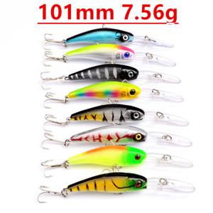 8 اللون 101MM 7.56g أسماك الصيد هوكس 6 # هوك الطعوم الثابت السحر PESCA معالجة صيد الاسماك اكسسوارات LW-14