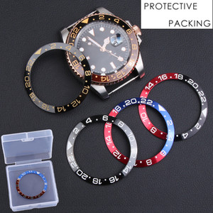 38-30.5mm Black Gold Blue Ceramic Bezel Insert For 40mm Dial for Submariner Gmt Oyster Yacht Man Watch Face Watches Replace Accessories