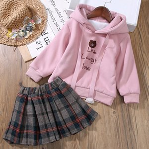Baby Autumn Winter Knitted Dress Girls Clothing Set Kids Cotton 2 Pcs Cloths Children Outfits Knitted Coat + Dress Sweater Suit