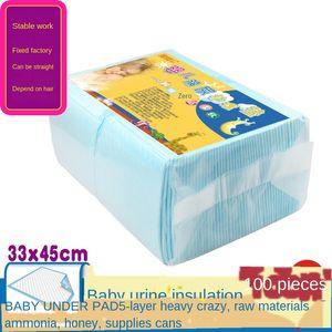 100 pieces of newborn s 33x Nursing Diaper diaper 45cm Baby Disposable small pads newborn baby care pad supplies