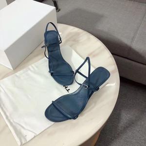 새로운 디자이너 펌프스 하이힐 샌들 럭셔리 여성 맨발 가죽 스타일 하이힐 T 스트랩 샌들 레이디 슈즈 슈퍼 모델 캐주얼 신발
