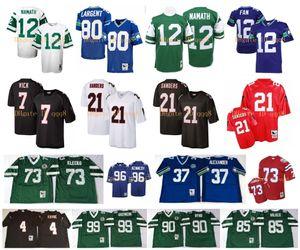 Retro Jersey 21 Deion Sanders 4 Brett Favre 7 Michael Vick 12 Joe Namath 73 Joe Klecko 80 Steve Largent 12 Fan Mark Gastine MN Football