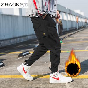 Men Black Joggers Pants Summer 2020 Spring Streetwear Overalls Sweatpants Mens Big Pockets Ankel Cargo Pants Male