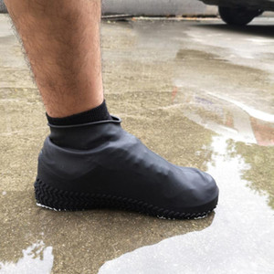 Waterproof Boots Covers Rain Shoe Boots Cover Outdoor Non-Slip Silicone Shoe Covers Boot Waterproof Reusable Rubber