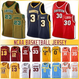 NCAA 23 Lebron Jersey Brigham Young Cougars 30 Curry 3 waten Maryland 34 Len Bias Westbrook Universität Basketball Jerseys Miller