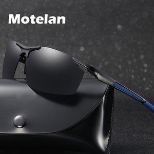 2020 New Mens Polarized Rimless Aluminum Sunglasses Male Driving Polarised Eyewear Goggle Style UV400 Sun Glasses 9 Colors 8530