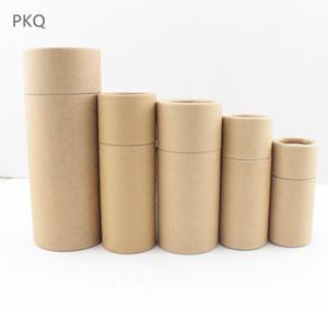 10ml 20ml 30ml 50ml 100ml conjunto de muestra kraft Caja de papel DIY Lápiz labial Perfume Botella de aceite esencial caja de empaque tubo de válvula embalaje