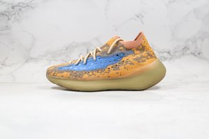 2020 New Kanye West 380 Alien Mist Azure Blue Oat 3M Reflective 380s Mens Running Shoes Women Sneakers trainer Sports Trainer Size 12
