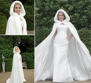 2019 Nuovo Trasporto libero Hot Bridal Cape Stunning Wedding Mantelli Caviglia Lunghezza perfetta per inverno Matrimonio Mantelli da sposa