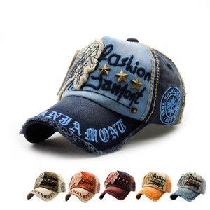 Chapeau de la mode européenne lettre patch rivet casual casquette de baseball en plein air sunhat cap pour les hommes et les femmes en coton printemps automne snapback