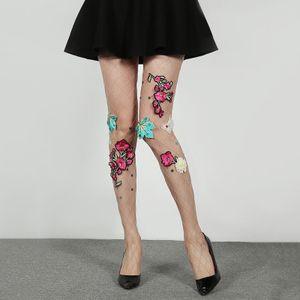 Mulheres calças justas designer com Flor 2020 New Arrival Moda Womens Sexy calças justas Stocking Tops Mulheres Underwear Streetwear Socks