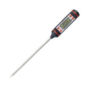Fleischthermometer 22cm lange Sonde Lebensmittelthermometer, multifunktionales Instant Read. Gut für Fleisch, Milch, BBQ (Batterie enthalten)