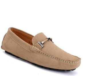 Luxe designer, Soft soles, breathable driving loafers, head layer suede leather large-size casual shoes,mens designer loafers 270 G5.24