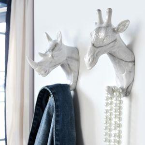 parete sagomata Ganci Deer Stags Rhino Cavallo Giraffa Elephant Head parete appendiabiti per cappelli Hook Rack scaffali da bagno