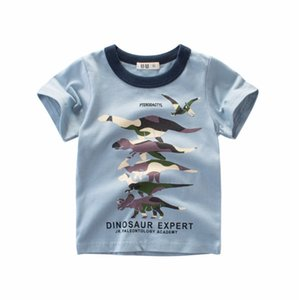 I bambini del progettista delle magliette dei ragazzi di moda Dinosaur stampato T-shirt bambini Marca casuali respirabili manica corta Tees Top Hot Sale