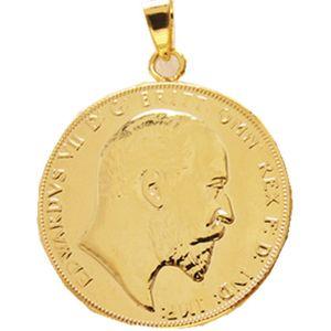 P (09) Para kolye 1902 EDWARD VII EGEMEN LONDRA MINT LUSTRE ÜSTÜN Altın Kaplama Moda Takı (çap: 22 mm)
