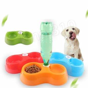 Pet distributeur d'eau double bol double but enfichable PET bouteille anti chute résistant chien alimentaire bassin chien bol homewareT2I5639
