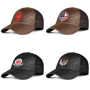 Ruger Firma Feuerwaffen Vintage alte Männer und die Frauen Pony Hut Kappe kühl leere kundenspezifische beste baseballhats Gun Sturm Fliegen amerikanische Flagge R