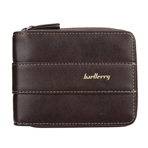 Mode Herren Geldbörse Haspe große Kapazität Kartenhalter Führerschein dreifach gefaltete kleine Reißverschluss kurze Brieftasche Leder Geldbörse