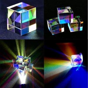 Prism Cube barato Lupas vidro óptico colorido Defective Combiner Splitter Cruz Dichroic Cube RGB Vidro Prism