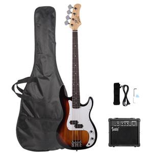 Nova Professional Electric Bass guitarra Basswood 4 Strings com 20W baixo Amp sol frete grátis Dos EUA