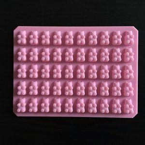 Praktische Nette Gummibärchen 50 Cavity-Silikon-Behälter Make Praline Eis Geleeform DIY Kinder Kuchen-Werkzeuge Großhandel D0026-1