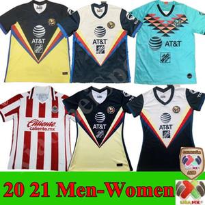 2020 2021 Men Women Liga MX club America Soccer Jerseys Unam Guadalajara de Chivas 20 21 Kit di calcio Messico Camicie da calcio