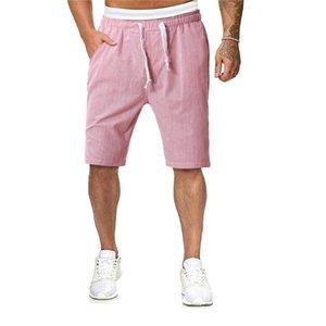 Verano de los hombres pantalones cuerda elástico Stretch Shorts Casual Male Hawaiian Beach Deporte Joggers Impreso mitad pantalones bermudas masculina #C