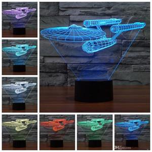 3D-Illusion Battleship Fern contral Tisch, Schreibtisch, Nachtlicht-Lampen Home Office Children Dekoration und Feiertags-Geburtstag-Geschenk
