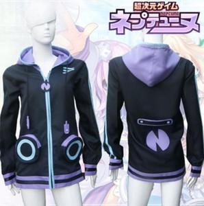 Hyperdimension Neptunia Neptun Lila Herz Otaku Cosplay Sweatshirt Hoodie