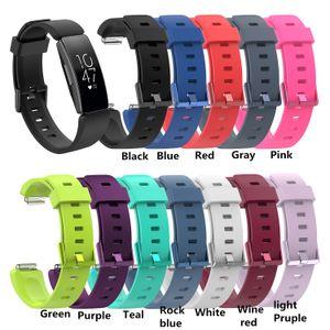 Fitbit 용 실리콘 팔찌 스트랩 팔찌 Inspire / Inspire HR Activity Tracker Smartwatch 교체 용 손목 밴드 손목 스트랩