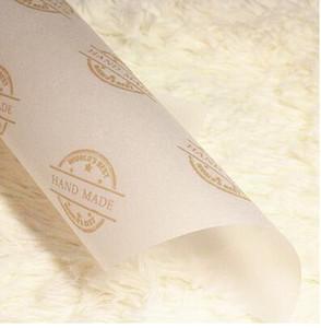 Toptan 100pcs / lot Mavi Çiçek Sabun Ambalaj Kağıt Wax Kağıt Mendil Hediye Sabun Sarıcısını Packaging