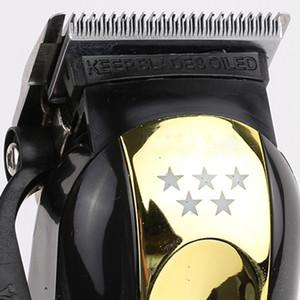 Gold Magic Negro pinza de pelo de las podadoras de corte portátil inalámbrico condensador de ajuste del pelo de la máquina de corte profesional de peluquería herramientas eléctricas