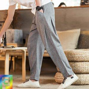 5XL verão Homens Yoga Pant linho rapidamente seco solto Sweatpant Correndo Jogger Gym Fitness Workout Casual Pant Calças Sportswear
