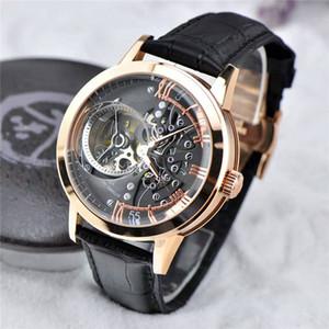 2019 VC высокое качество роскошные мужские часы импорт автоматические механические часы из натуральной кожи ремешок скелет наручные часы человек мода часы