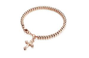 Pulsera de amor Bijoux de créateurs de lujo femmes pulseras de la amistad cruz pulseras regalo de Navidad para damas de lujo joyas de diseño wome