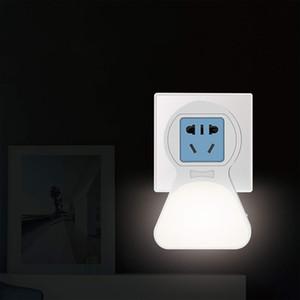 BRELONG akıllı alacakaranlık ile çok fonksiyonlu LED gece lambası şafak indüksiyon soket gece lambası USB arayüzü ile